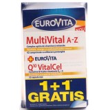 EUROVITA  MULTIVITAL A-Z + Q10 VITACEL (1+1 gratis)
