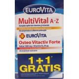 EUROVITA  MULTIVITAL A-Z + OSTEO VITACTIV FORTE (1+1 gratis)