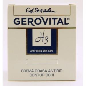 Gerovital H3 Crema Grasa Antirid Contur Ochi
