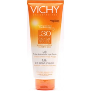 Vichy Capital Soleil Lapte Protectie Sfp30 Adulti Si Copii (fata Si Corp, 300 Ml)