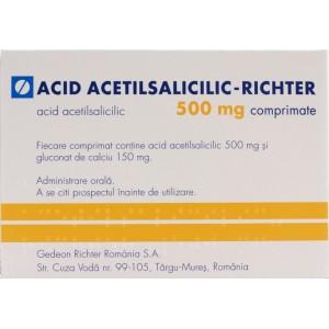 Acid Acetilsalicilic - Richter 500mg (30 comprimate)