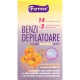 Farmec benzi depilatoare cu ceara naturala la rece (14 benzi)