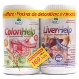 ColonHelp (480 g) + LiverHelp (360 g) pachet de detoxifiere avansata