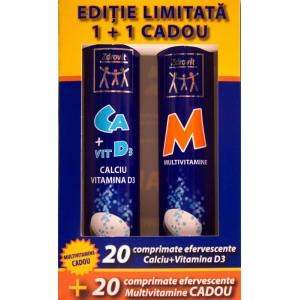 Zdrovit Calciu+Vitamina D3 (20 efervescente) si Multivitamine (20 efervescente)