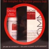 Vichy Homme balsam dupa barbierit + spuma de ras cadou