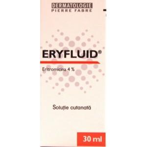 Eryfluid solutie cutanata Eritromicina 4% (30 ml)