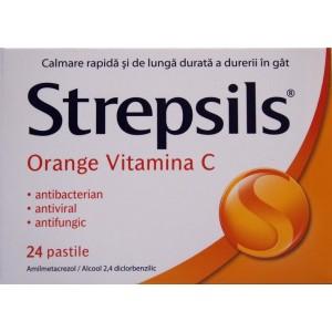 Strepsils cu Vitamina C (24 pastile)