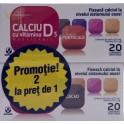 Biofarm Calciu cu vitamina D3 cu aroma de portocale + Calciu cu vitamina D3 cu aroma de cacao )2 la pret de 1