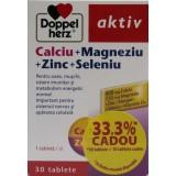 Doppelherz Aktiv Calciu + Magneziu + Zinc + Seleniu (30 tablete+10 tablete cadou)