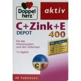 Doppelherz Aktiv C + Zinc + E 400 Retard (40 de tablete)