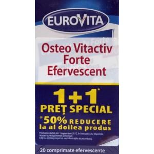 Eurovita Osteo Vitactiv Forte Efervescent (1+1, 50% reducere din al doilea produs)