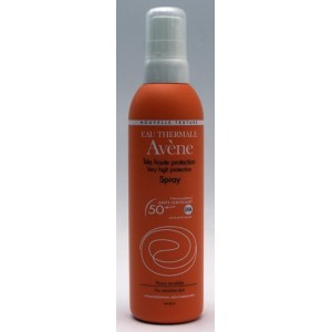 Avene spray protectie solara SPF 50+ fara efect de urme albe (200 ml)