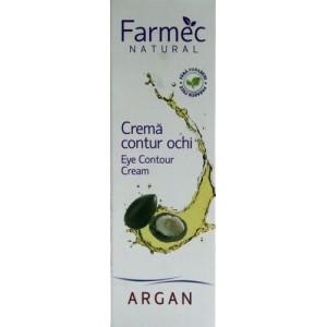 Farmec Natural Crema contur ochi ten uscat sensibil(15 ml)