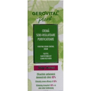 Gerovital Plant Stop Acnee Crema sebo-reglatoare purificatoare (50 ml)
