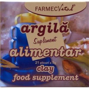 Farmec Vital Argila supliment alimentar (21 plicuri a 5 g)