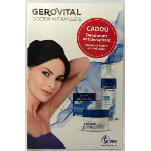 Gerovital H3 Classic crema lift restructuranta de noapte + Natural deodorant antiperspirant (pachet promotional)