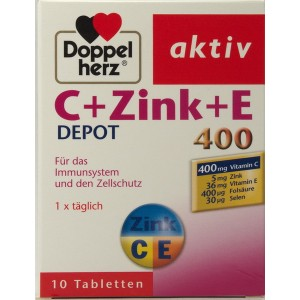 Doppelherz Aktiv C + Zinc + E 400 Retard (10 de tablete)