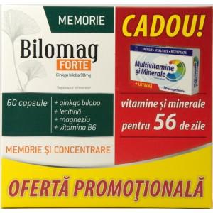 Zdrovit Bilomag Forte + Multivitamine si Multiminerale cadou