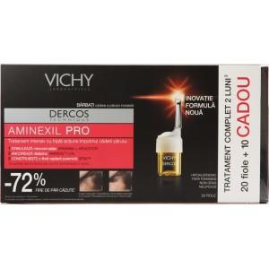 Vichy Dercos Aminexil Pro Barbati (20 Fiole + 10 Fiole Cadou)