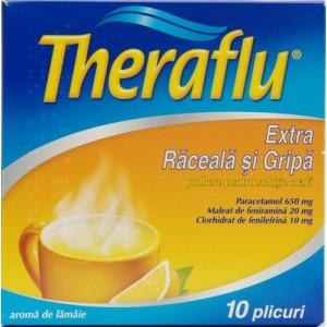 Theraflu Extra Raceala Si Gripa (10 Plicuri)