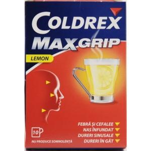 Glaxosmithkline Coldrex Maxgrip Lemon (10 Plicuri Pulbere Orala)