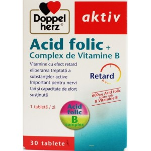 Doppelherz Aktiv Acid Folic + Complex De Vitamine B (30 Tablete)