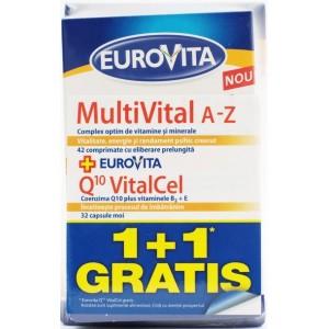 Glaxosmithkline Eurovita Multivital A-z + Eurovita Q10 Vitacel (1 + 1 Gratis)