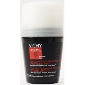 Vichy Homme Deo Roll-on 72 Ore Control Extrem (50 Ml)