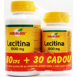 Walmark Lecitina 1200 Mg (80 Cps + 30 Cps Cadou)