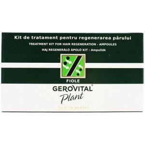 Gerovital Plant Kit De Tratament Pentru Regenerarea Parului (10 Fiole X 5g, 10 Fiole X 10g)