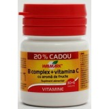 WALMARK B COMPLEX + VITAMINA C (30 tablete + 6 tablete gratuit, cu aroma de fructe)